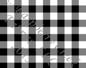 FLAWED Black and White Buffalo Check 4 Way Stretch FRENCH TERRY Knit Fabric, Club Fabrics, 1 Yard