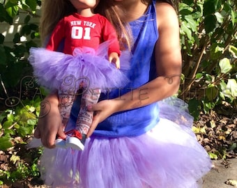 dolly and me matching tutu, matching tutu, doll tutu, dolly tutu, 18 in doll tutu, girls tutu, toddler tutu, baby tutu, matching tutus, tutu