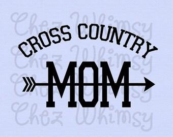Cross Country SVG, Cross Country Mom SVG, CC Mom Design, Cross Country with Arrow Set