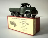 Antique Metal Toy / Britain's Six-Wheel Truck with Driver in Original Illustrated Label Box / No. 1335 / MINT Condition /