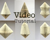 Folded Book Art - VIDEO Tutorial for hanging book ornaments