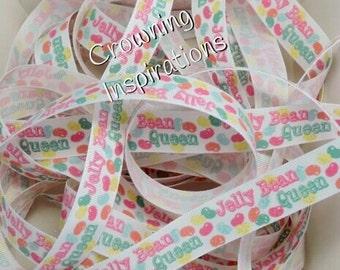 7/8 Spring Easter Jelly Bean Queen US Designer Glitter ribbon