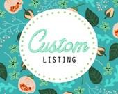 Custom Listing for Eleanor