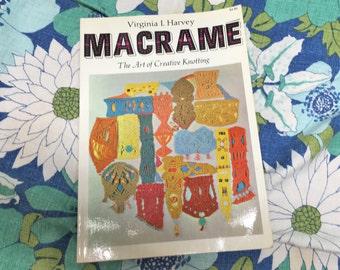 Vintage Macrame Book Virginia I. Harvey 1967