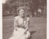 Vintage Photo - Woman With Eyes Closed - Ephemera, Vernacular, Snapshot, Found Photo (A)