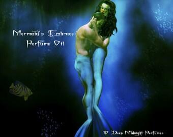 Mermaid's Embrace™ Perfume Oil - Deep Sea Waters, Ocean Lilies, Jasmine, Hibiscus, Pink Lotus, Sea Moss - Mermaid Perfume