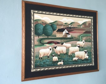 Folk Art Oil Painting Signed Harrington c.1988 By Gatormom13
