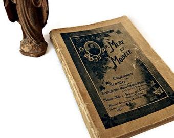 Antique French Book of Memoires of Roman Catholic Gray Nuns /Prayer Book/ Collectible Item/Virgin Mary/Memorial Prayer Book