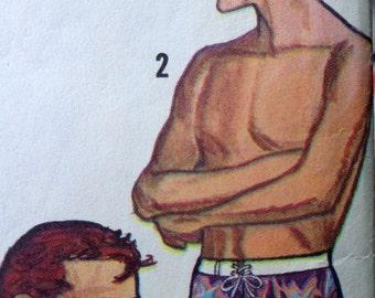 60s Mens Swim Shorts and Jacket Pattern Simpicity 6073 Size 38