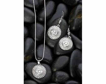 Gift Set / Bullet Earrings / Winchester® 40 Caliber Fire & Ice Nickel Gift Set WIN-40-N-FIGS / Fire and Ice / Custom / Bullet Necklace