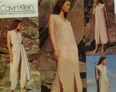 Calvin Klein Casual Tunic Pattern, Wrap Top, Camisole, Button Front Skirt, Pants, Vogue American Designer No.1146 UNCUT Size 10