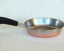 Vintage Revere Ware 7 inch Skillet 1801 Copper Clad Stainless Steel ROME, N.Y.