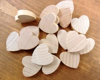 "50 Wood Hearts 1"" x 1"" x 1/4"" Unfinished Wood"