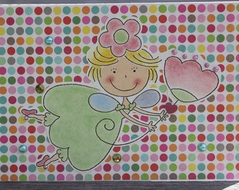 Birthday Card, Fairy Princess birthday Card; Little Girl Princess Birthday Card
