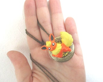 Pokémon Locket  Necklace - FLAREON figure Locket - Gamer Gear