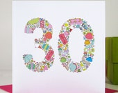 Girlie Things 30th Birthday Card - Birthday Card For Her - Special Birthday - 30th Birthday Card