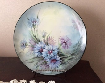Beautiful ME Haggerty Hand painted China Plate