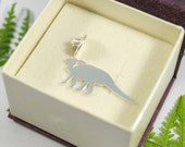 Sterling Silver Hadrosaur Pin: A lovable Parasaurolophus in sterling silver