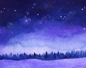 The Darkest Night of the Year - Starry Night - Archival Art Print