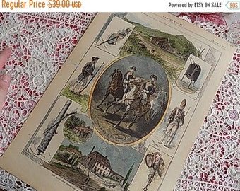 Antique Hand Colored Engraving - Harpers Weekly - American History - Bennington