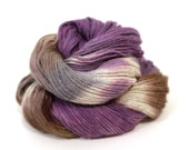 Hand Dyed Sock Yarn  Trina in Logwood Shibori yarn baby alpaca, silk, cashmere 3 ply