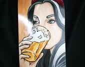 Hand Painted Skateboard Deck Little Hop of Horrors