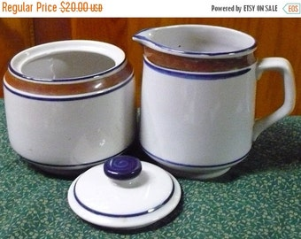 Save 10% Salem Stoneware - Cream & Sugar Bowl W/ Lid - EUC - Price Is For All