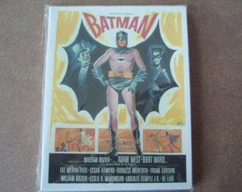 Batman Movie Note Cards 8 pack with envelopes Batman Adam West Burt Ward