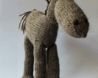horse, teddy horse, hand knitted horse, alpaca