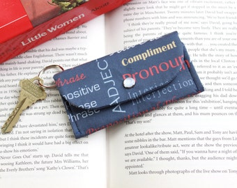Grammar Gift Keychain Wallet - ID Holder Wallet - English Teacher Gift - Business Card Holder Wallet - Student ID Holder - Literary Gift