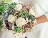 Succulent & Sola Bouquet // Bridal Bouquet