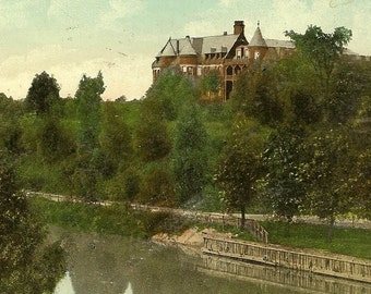 Antique TORONTO Postcard – The Isolation Hospital From The Don River 1908