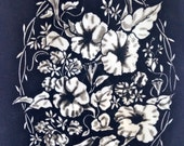 """Tri-Chem Pictures to Paint – Morning Glories on Velveteen – No. 1896-25 – 9"""" wide x 12"""" high - Vintage"""
