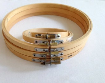 Wooden Embroidery Hoops – Assorted Sizes Set 5