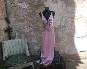 Vintage Lavender Full length Lace Nightgown