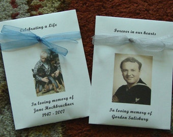 Customized Memorial Funeral Tribute Forget-me-Not Seed Packets