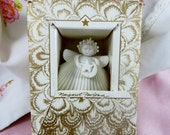 Margaret Furlong Sweet Seashell Angel Ornament Vintage Christmas or Home Decor Shell Angel Margaret Furlong Still in Box