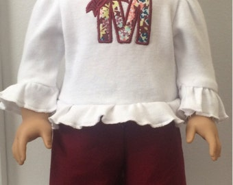 "American Doll Ruffle Long Sleeve Shirt and Ruffle Pants -  M2M Matilda Jane's ""Friends Forever"" Collection"