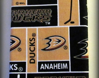 Anaheim Ducks Hand Made Eyeglass and Sunglasses Case