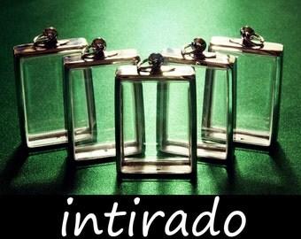 Terrarium Pendant, Terrarium Kit, Art Supplies, Diorama, Silver Tone, Terrarium Necklace Blanks, Shadow Box Pendants, Display Cases, 5pcs