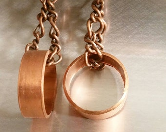 Upcycled Copper Earrings Ethical Jewelry Festival Circle Hoop Trending Jewelry Popular Dangle Earrings