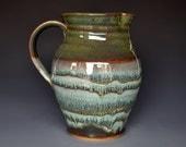 Dark Forest Pitcher Green Ceramic Pottery Jug A