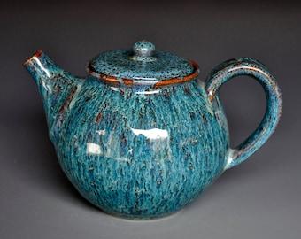25% Off Seconds Blue Pottery Teapot Ceramic Handmade Tea Pot Stoneware Teapot
