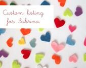 Custom listing for Sabrina