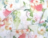 VINTAGE SHEET Fat Quarter Soft Watercolor Floral Retro Bed Linen 1960s 1970s  VSMulti05