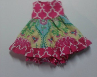 """Baby Alive  And Waldorf Doll Clothes Flirty Ruffled Sundress 10"""" 12"""" Or 15"""""""