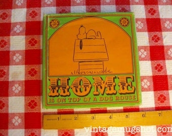 Snoopy PEANUTS Home Is On Top Of the A Dog House 1st ed Charlie Brown Hardcover Book Exc. 1966 Charles Schultz