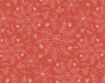 Crimson Dance- Wild & Free Collection by Maureen Cracknell - Art Gallery Fabrics premium quilting cotton fabric