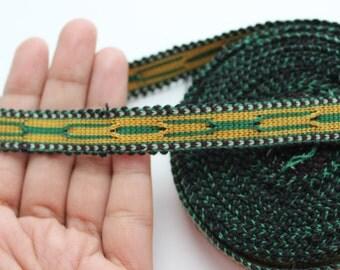Uzbek cotton woven trim Jiyak. Ethnic Boho trim