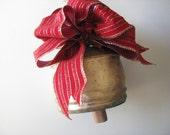 Christmas Brass Bell with Christmas Ribbon. Nautical Christmas